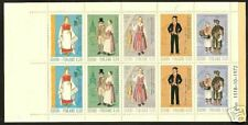 FINLAND # 522a MNH Regional Costumes Full Booklet Pane