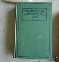 RARE 1930 Book United States Agriculture Yearbook 1930