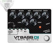 NEW! Tech 21 Character Series VT BASS DI - Bass Preamp (CS-VTB-DI)