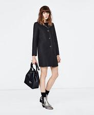 MAJE grace laine et néoprène manteau taille 38