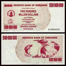 Zimbabue - Zimbabwe 500000000 Dollars 31-12-2008 Pick 60 SC = UNC