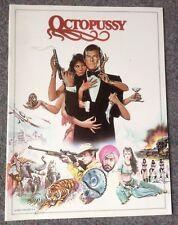 OCTOPUSSY SOUVENIR FILM PROGRAME 1983 VINTAGE ORIGINAL Roger Moore as James Bond