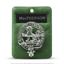 Clan MacPherson Scottish Crest Badge Brooch Pin Clothes Costume Gift Souvenir