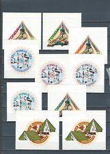 Tonga mnh self adhesive stamp set - Scouts
