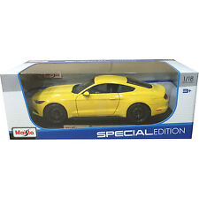 Maisto 2015 Ford Mustang GT 5.0 1:18 Diecast Model Car Yellow