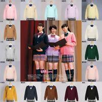 2344204b9758 Japanese School Harajuku Style JK Uniforms Cardigan Long Sleeve Women  Sweater
