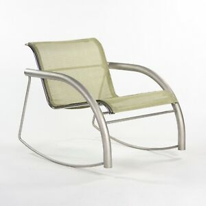 Prototype Richard Schultz 2002 Collection Stainless Steel & Mesh Rocking Chair