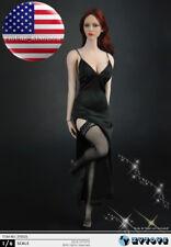 1/6 Scale Black Dress Stockings Set For 12'' PHICEN TBL Hot Toys Female Figure