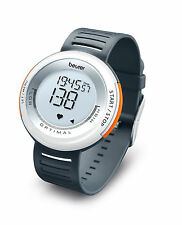 Beurer Pm58 Sport Fitness Health Heart Rate Monitor Watch White Dark Grey