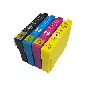 Compatible Non-OEM for Epson 502XL T02W1/2/3/4 T032V1/2/3/4 - 76% Extra Fill