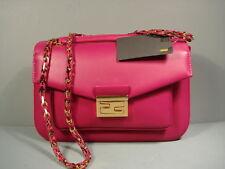 Fendi Fuchsia Pink Soft Leather Woven Strap Handbag Shoulder Bag Purse New $3216