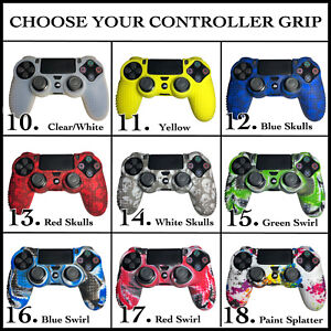 Set of Controller Analog Grips Silicone Rubber Skin Case Gaming Cover - Sony PS4