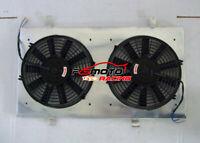 FOR NISSAN Silvia 180SX S13 SR20DET 89-94 Aluminum Radiator Shroud Fan + 2*fans