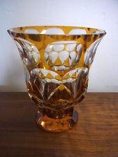 Art Deco alte Vase Glas schwer#Y