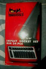 "Teng Tools TT9024 24 Piece 1/4"" 3/8"" Drive Impact Socket Set NEW unused 6 point"