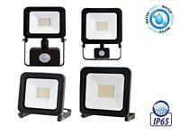 10W-100W LED Arbeitsleuchte Strahler Außenlampe Fluter Baustrahler mit PIR IP65