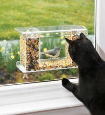 One-Way-Mirror Window Birdfeeder w/Suction-Cup Attachment