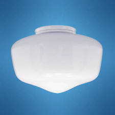 """Globe Replacement 8"""" White School House Light Glass Shade for 4"""" Fitter  236-G11"""