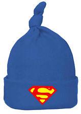 Chapeau bébé garçon fille bleu rouge Superman top knot Beanie Chapeau Crâne Cap One Size 3-6