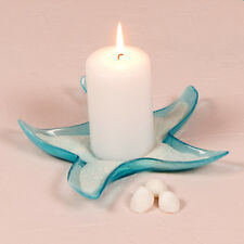 Starfish Glass Candle Holders / Dishes Large Set of 4