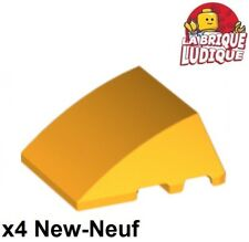 6153b LEGO ® 1x Wedge 6 x 4 cutout with stud Notches-Rosso