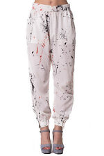 RRP€161 DIESEL Size XS Women's P-GIOI-D Paint Splash Lightweight Cuffed Trousers