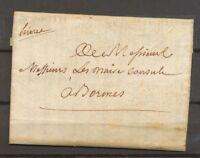 1777 Lettre Marque Manuscrite hiere pour HYERES VAR(78) TB. X3527