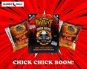 Chilli Chip Value Pack: World's Hottest Corn Chips & Blair's Habanero Chilli