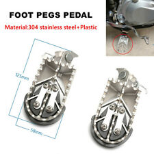 2PCS Motorcycle Foot Pegs Protector Guard Pad Steel Forefoot Pedals Hardness