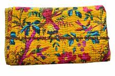 Indien bird kantha quilt cotton bohemian hippie handmade queen bedding bedspread