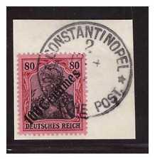 DP Türkei Minr. 52 ° Constantinopel 2  12.4.11 ohne Uhrzeit Luxus Briefstück BPP