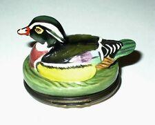 Halcyon Days English Enamel Box - Carolina Or Wood Duck Bonbonniere