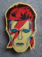 "David Bowie Wall Art Ziggy Stardust 'Glitter Bowie' on 11"" x 16"" Wood by Epyon 5"