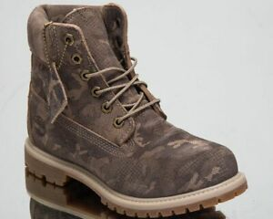Timberland 6 Inch Premium Waterproof Boots Women's Brown Casual Lifestyle Shoes