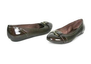 Life Stride Womens Nero Flats Shoes 9W 9 Wide Comfort Soft System Ballet Bronze