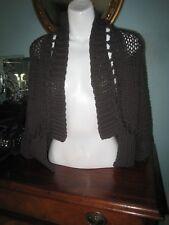 Crea Concept grey designer loose knit drape cardigan jacket top 38 10/12
