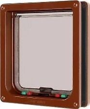Cat Mate Brown Large Cat Flap 4 Way Locking 221B #30l284