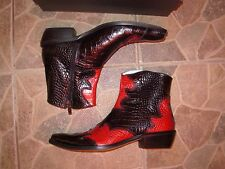 Comodo  Black Rosso Hand made cowboy boots eu. 43 Size  Leather Kayman  print