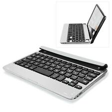 Aluminum Case Cover Wireless Bluetooth Keyboard Stand for Apple iPad Mini Silver
