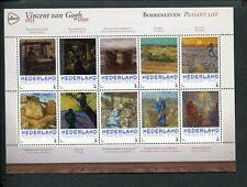 Netherlands, VINCENT VAN GOGH 1853-1890 sheet PEASANT LIFE - BOERENLEVEN;  MNH