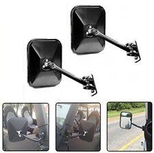 Side View Door Mirrors for Jeep Wrangler JK CJ YJ TJ 07-17 Rectangular Mirrors G