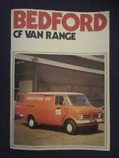 Bedford Cf Van Range Brochure 1974