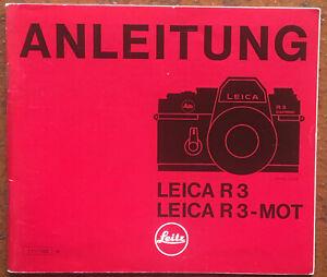 Leica R 3/ R 3-Mot  - Anleitung von IV/83