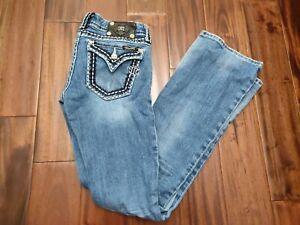 Miss Me Boot Cut Jeans Womens 27 Waist 32 Inseam JP5014-11