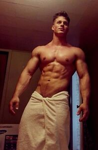 Shirtless Male Muscular Beefcake Ripped Body Builder Hunk Towel PHOTO 4X6 D284
