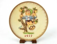 """Apple Tree Boy"" ~ Mj Hummel 1977 6th Annual Collector Plate, Bas Relief #Plt70B"