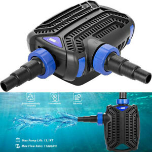 30W 1180GPH Submersible Water Pump Pond Filter Fish Tank Aquarium Waterfall