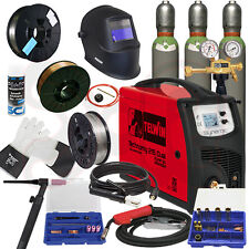 TELWIN TECHNOMIG 215 DUAL im SET 3, WIG MIG/MAG Elektrode Schutzgas Schweißgerät