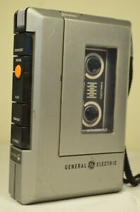 Vintage General Electric GE 3-5313A Cassette Recorder Tested & Working!
