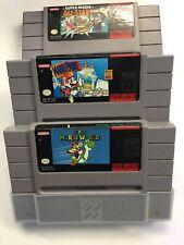 SNES 3 game lot-Super Mario World, Mario Allstars & Mario Paint  Free Shipping